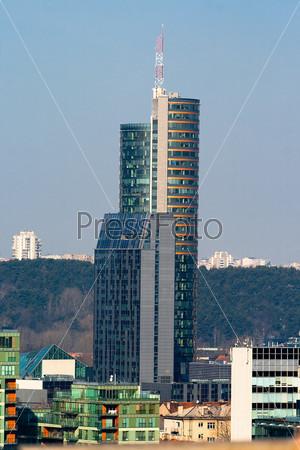 Высотное здание в центре Вильнюса. Литва