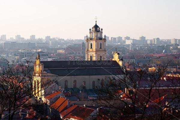 Фотография на тему Церковь Святого Иоанна на рассвете. Вильнюс. Литва