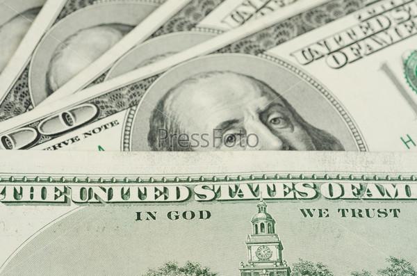 Фотография на тему Доллары крупным планом
