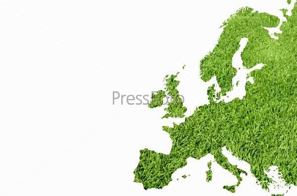 Фотография на тему Газон в форме карты Европы