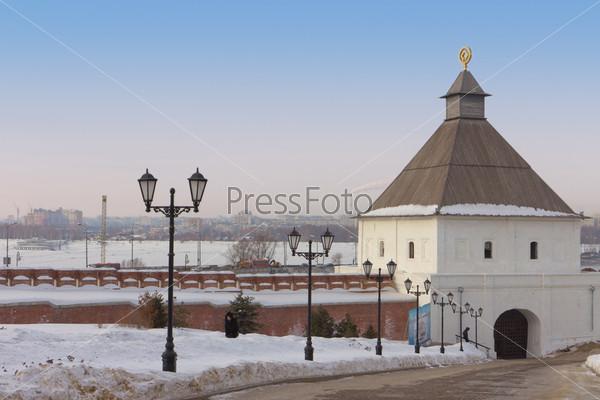 Тайницкая башня в Казанском Кремле. Татарстан