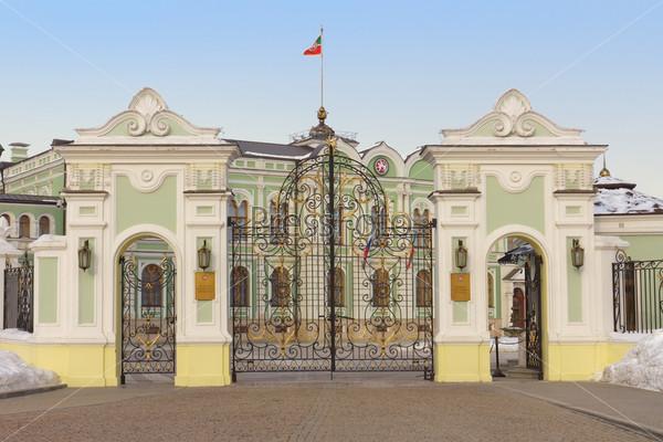 Фотография на тему Ворота президентского дворца в Казанском Кремле в Татарстане