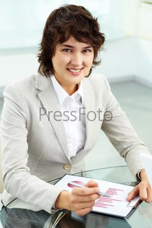Счастливая бизнес-леди