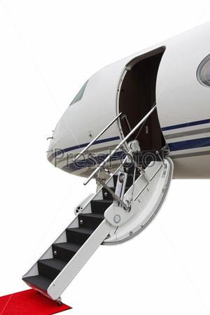 Трап частного самолета