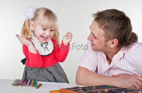 Фотография на тему Отец с дочерью