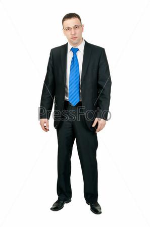 Предприниматель, изолированный на белом фоне