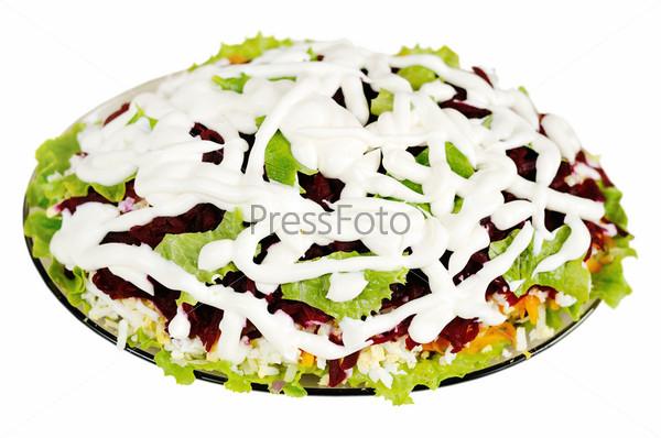 Фотография на тему Салат из сельди и овощами