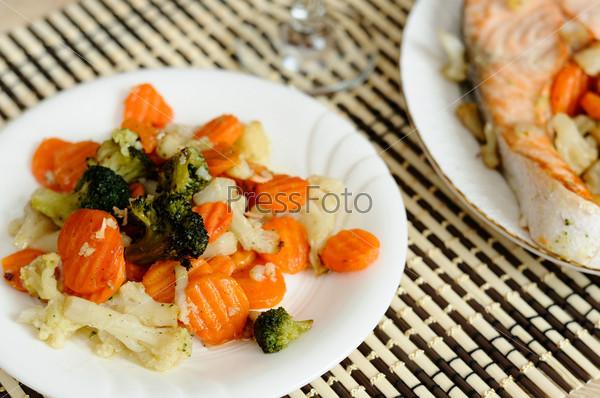 Вкусные овощи на пару