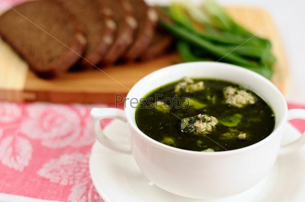 Фотография на тему Суп со шпинатом и фрикадельками