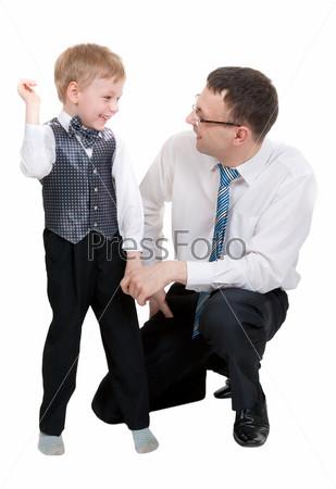 Фотография на тему Счастливый отец с сыном