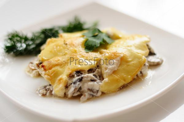 Вкусные грибы с сыром