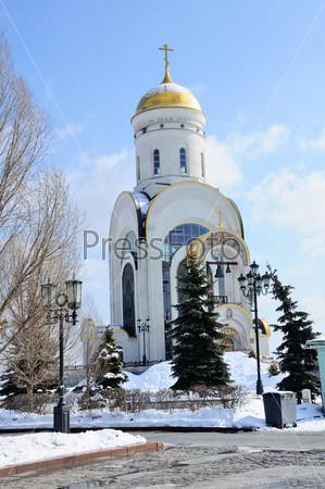 Церковь Святого Георгия на Поклонной горе в Москве, Россия