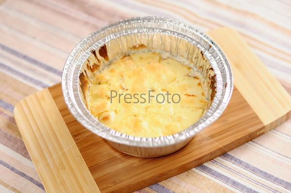 Грибная запеканка с сыром