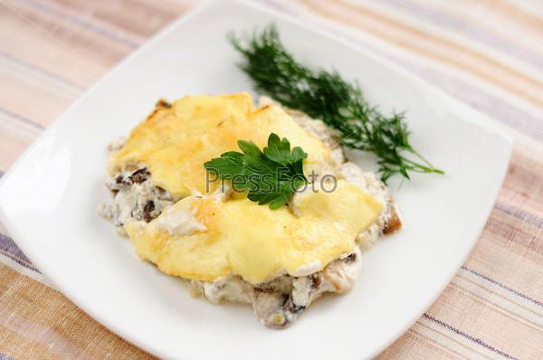 Фотография на тему Грибная запеканка с сыром