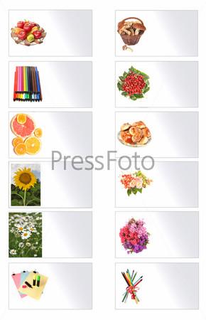 Карты с изображением растений и предметов