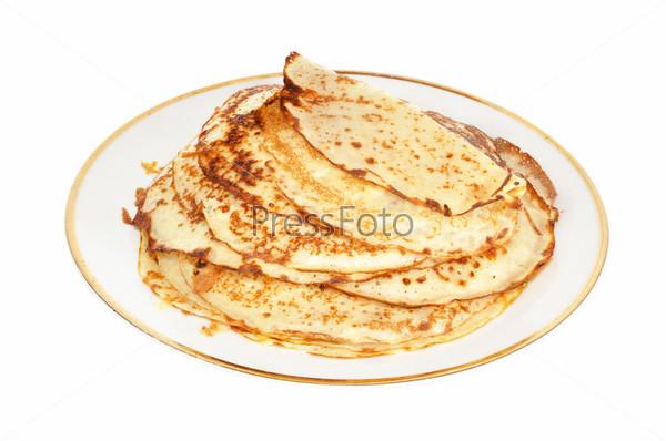 Фотография на тему Блины на тарелке
