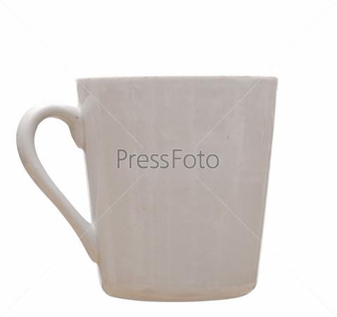 Чашка на белом фоне