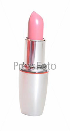 Фотография на тему Розовая помада на белом фоне
