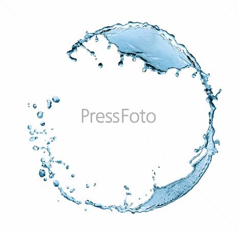 Фотография на тему Рамка из голубых брызг воды