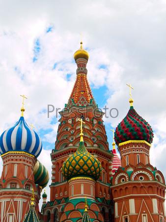 Фотография на тему Разноцветные купола собора Василия  Блаженного, Москва, Россия