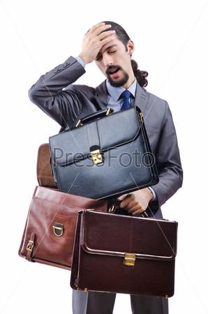 Фотография на тему Молодой человек с портфелями
