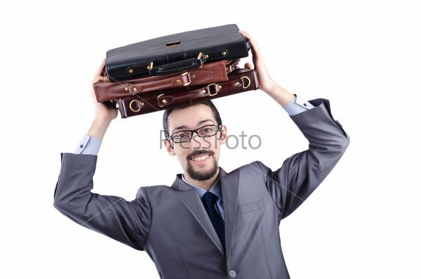 Молодой человек с портфелями