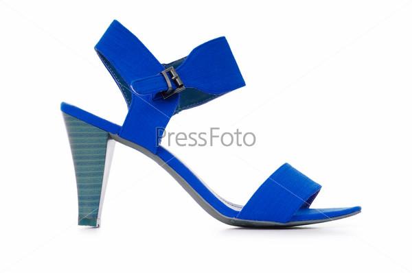 Женская обувь на белом фоне