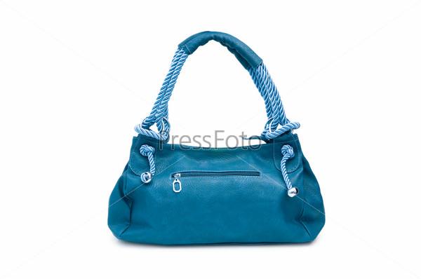 Женская стильная сумка на белом фоне