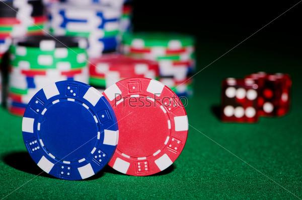 Фотография на тему Азартные игры. Фишки и кости