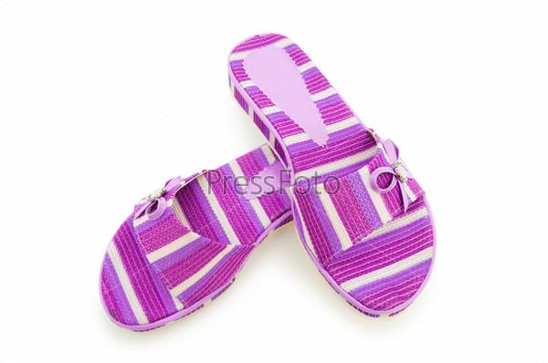 Фотография на тему Фиолетовые сланцы на белом фоне