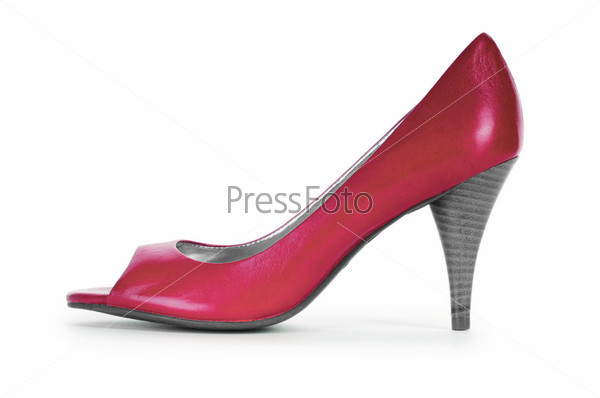 Красная женская обувь, концепция моды