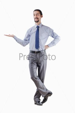 Фотография на тему Бизнесмен держит что-то на ладони