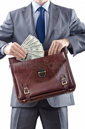 Предприниматель с американскими долларами