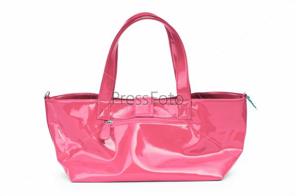 Фотография на тему Элегантная женская сумка, белый фон