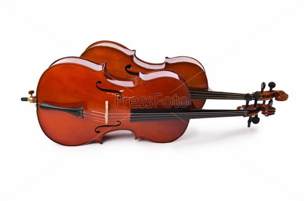 Музыкальные инструменты, изолированные на белом фоне