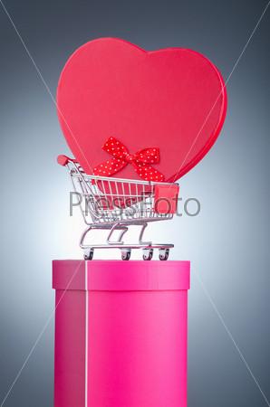 Подарки и корзина для покупок