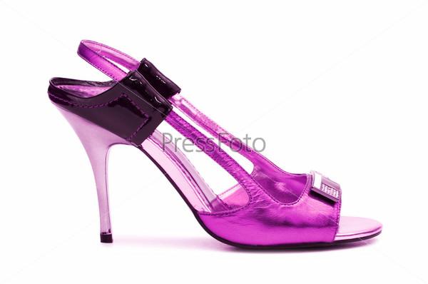 Фотография на тему Женская обувь на белом фоне