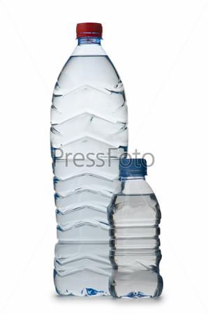 Бутылки воды как концепция здорового питания