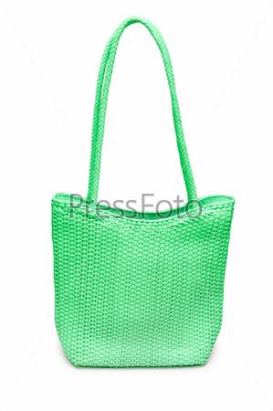 Стильная женская сумка на белом фоне