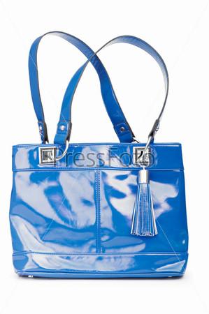 Фотография на тему Женская стильная сумка, белый фон
