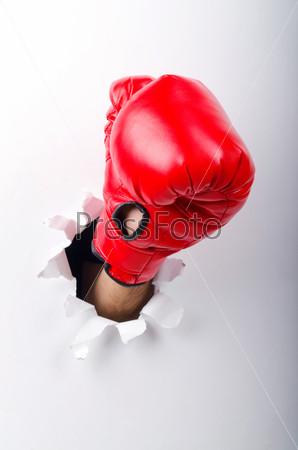 Фотография на тему Боксерская перчатка на руке