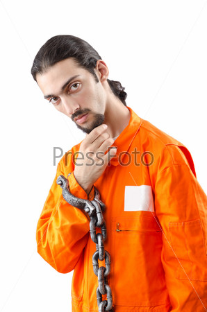 Уголовник в кандалах