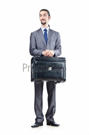 Фотография на тему Предприниматель на белом фоне