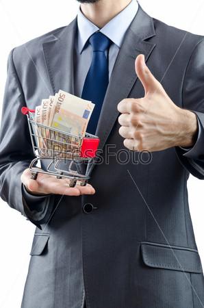 Фотография на тему Деньги в руках мужчина
