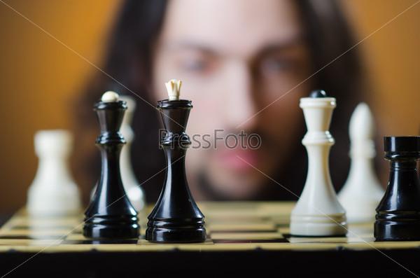 Шахматист за игрой