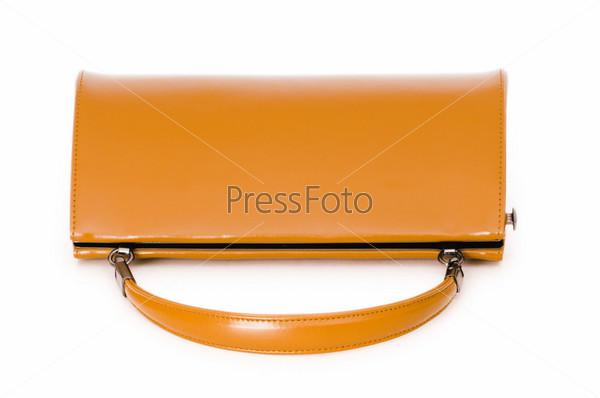 Фотография на тему Женская стильная сумка на белом фоне