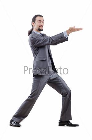Фотография на тему Бизнесмен на белом фоне