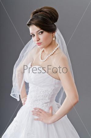 Фотография на тему Красивая невеста в свадебное платье
