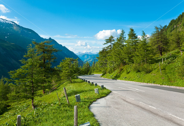 Фотография на тему Летние Альпы, дорога Гросглокнер