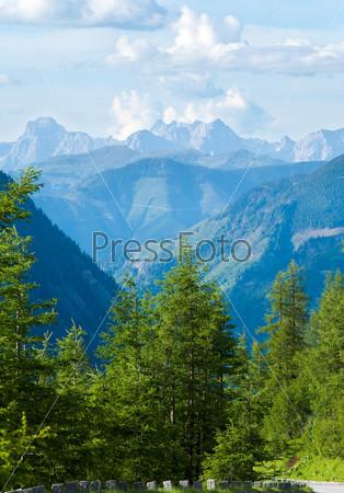Альпийские горы летом, Австрия